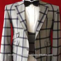Check Patterned 3 Three Pieces MEN S Suits 4 COLOR